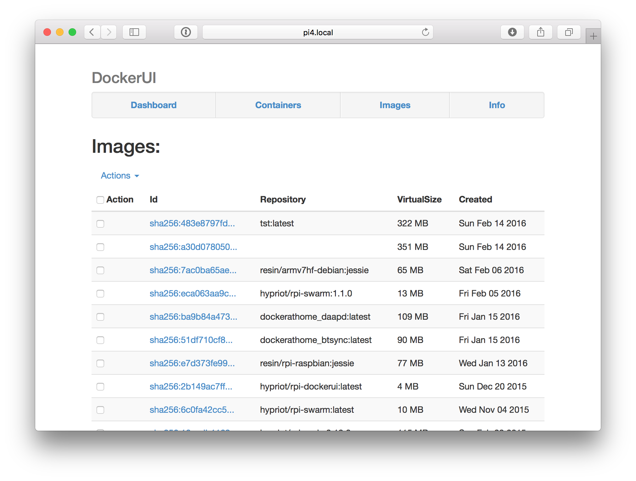 Visualize your Raspberry Pi containers with Portainer or UI for