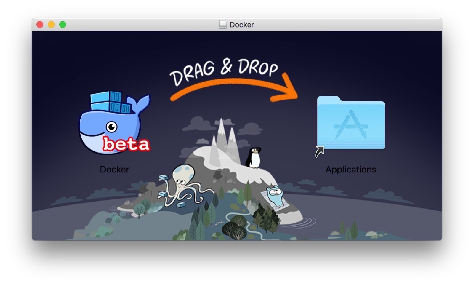 First Touch Down with Docker for Mac