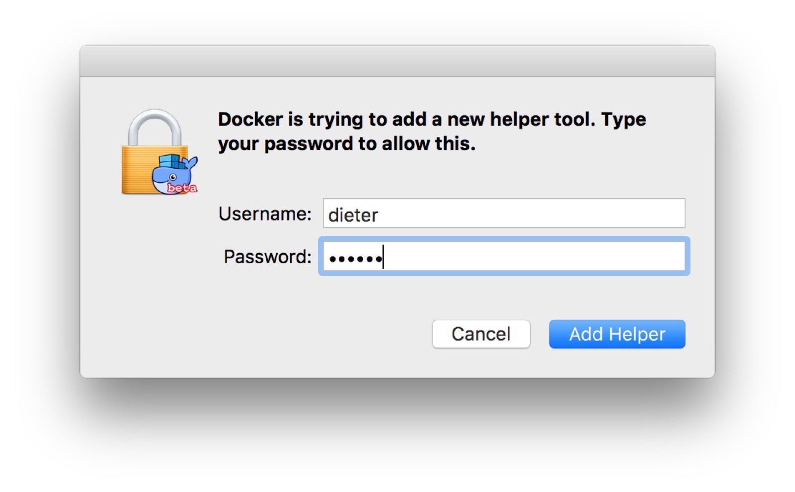 First Touch Down with Docker for Mac · Docker Pirates ARMed