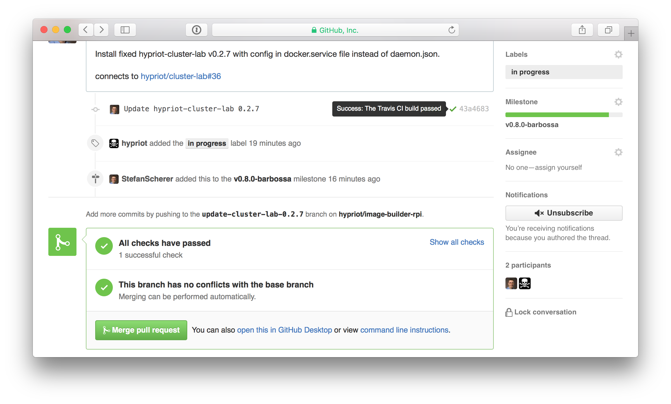pull request successful