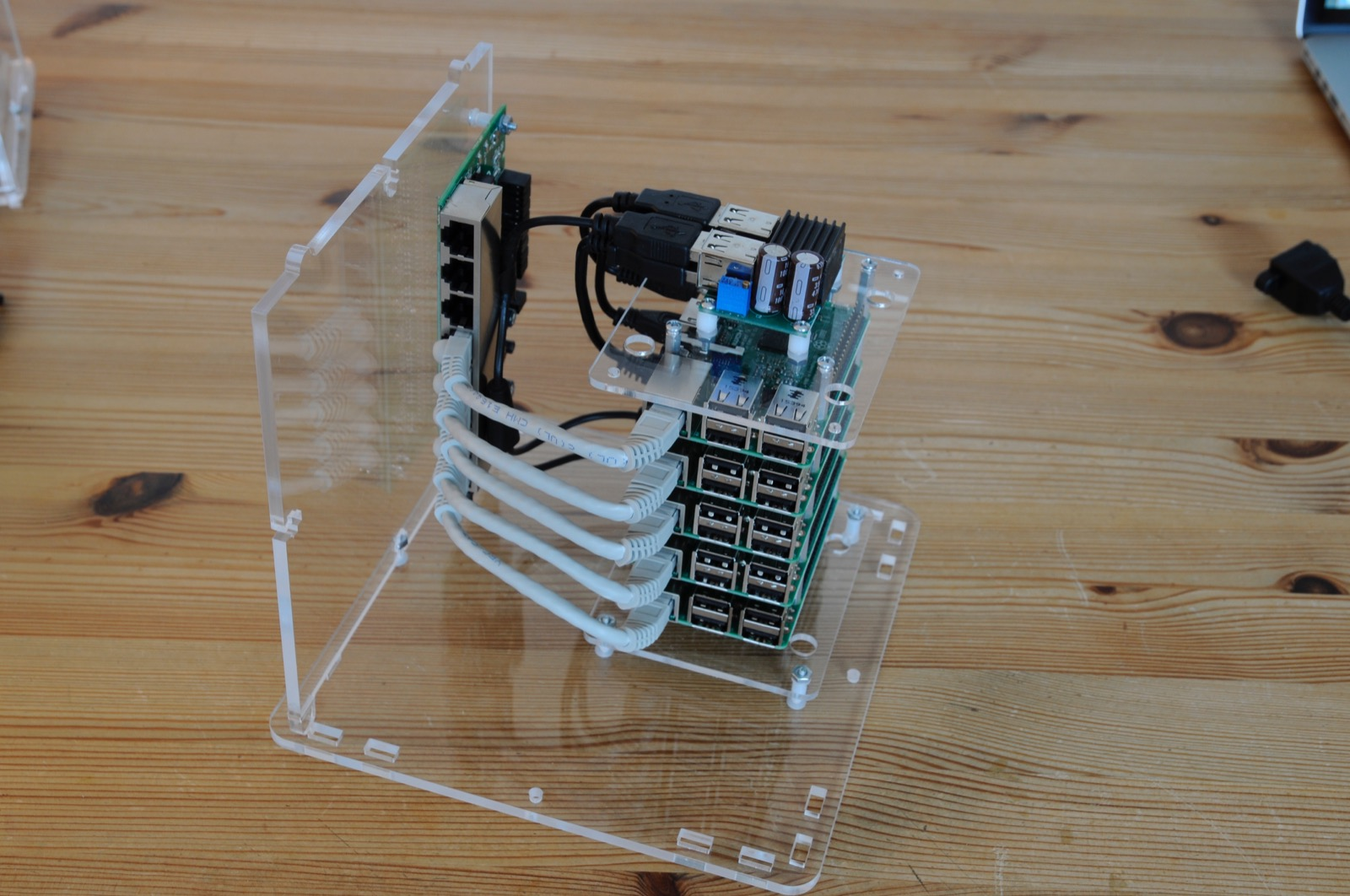 Lets Build A Picocluster For Docker Swarm Pirates Armed Acrylic Switch Wiring Box 10 5 Node
