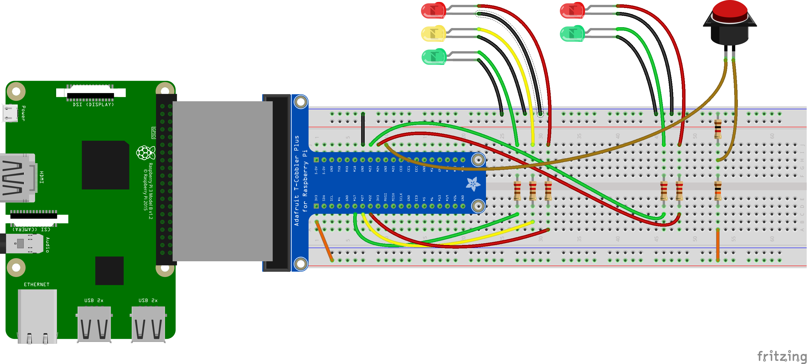 Traffic light wiring